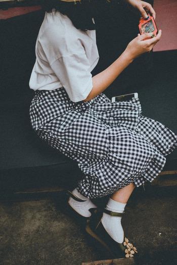 おしゃれが楽しい季節にぴったり♪秋の「スカート」コーデ