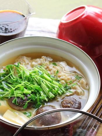 きのこや豆腐も、季節を問わずに手に入り、いつでも価格が安定した食材。カンタン・お得・おいしくてあったまる、これからの寒い季節に大活躍しそうなメニューです。