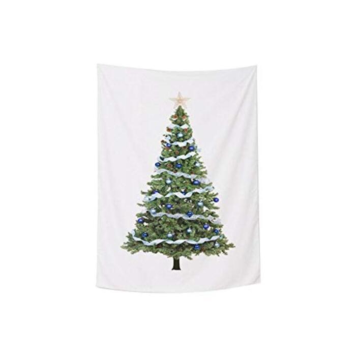 Cratone スエード クリスマスタペストリー 6種 ホームデコレーション 北欧 背景装飾布 クリスマス 壁掛け クリスマスツリーパターン 飾り布 100cm*150cm/ 145cm*215cm