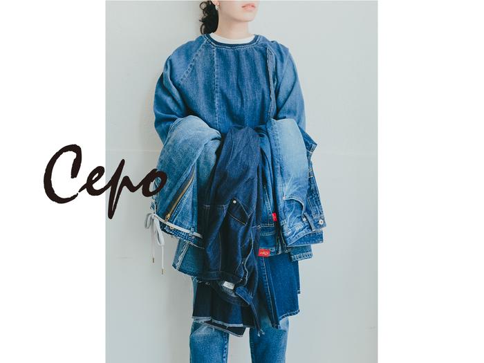 """「ワーク」「ミリタリー」「オーセンティック」といったスタンダードな要素に、""""今の気分""""をほんのり取り入れた服作りをしているファッションブランド『Cepo(セポ)』。もともと、ジーンズを製造から販売まで一貫して手がけているメーカーから生まれただけあって、高い品質のデニムに定評があります。ほかにも""""大人カジュアル""""にぴったりなアイテムが揃っていると、カジュアルファッションを好む女性たちから支持されているブランドです。"""