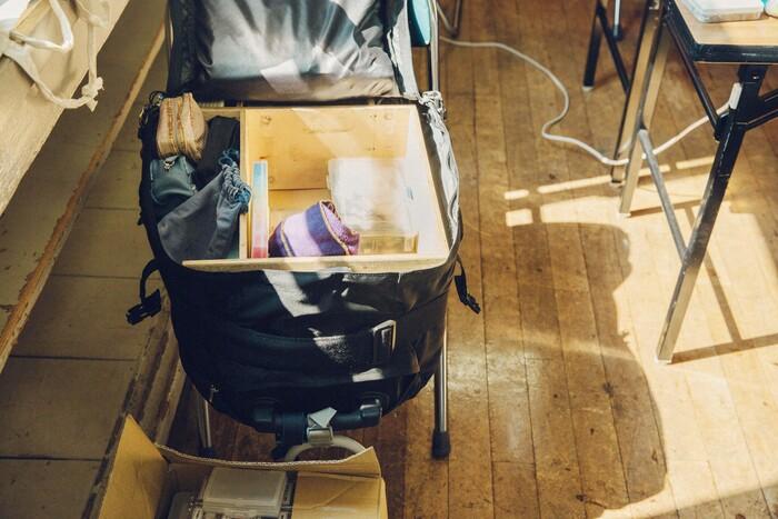 三浦さんの仕事道具が詰まったスーツケースは約20キロ。これを相棒に全国を飛び回っている