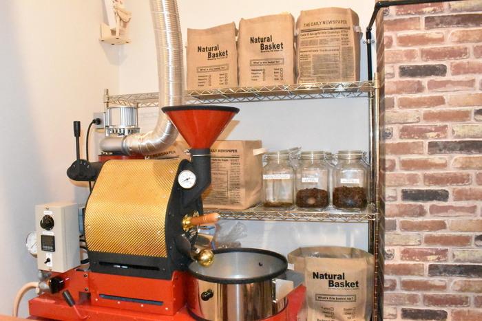 自家焙煎でハンドドリップでコーヒーをいただくことができるとっても贅沢なお店です。店内はコーヒーのいい香り♪