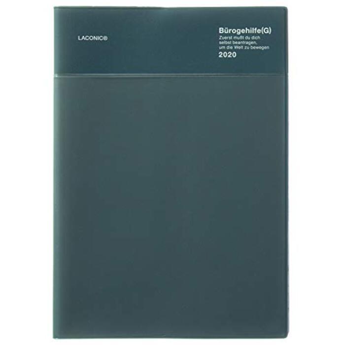 ラコニック 手帳 2020年 A5 ウィークリー ビニールポケット ネイビー