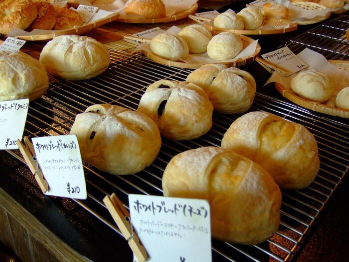 湯種には天然酵母が使用されており、小麦の味がしっかりと出ている美味しいパン生地が評判です。もっちりとした食感のベーグルも人気で、種類も多く用意されています。全体的にボリューム感のあるパンが多いため、お友達や家族とシェアして楽しむこともできますよ。