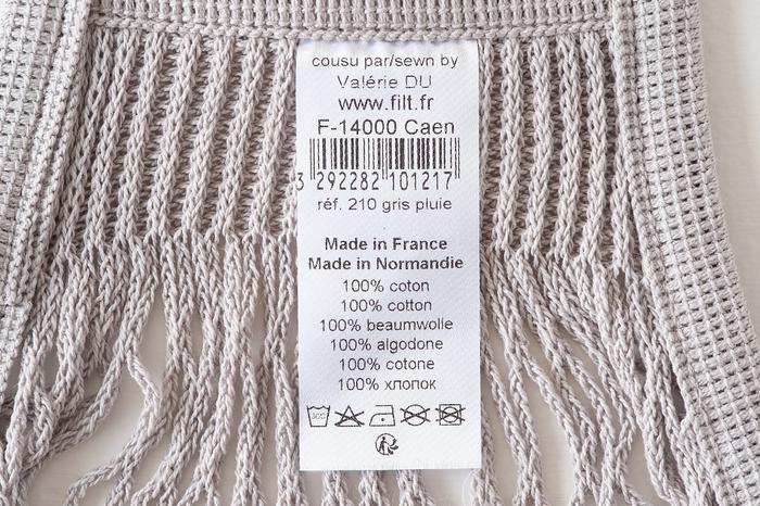 FFILT社のネットバッグの素材は綿100%で、一見華奢に見えますが、ヨットや漁業など業務用のアイテムにも使えるほど丈夫。
