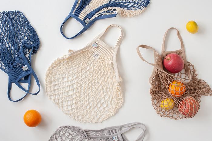「FILT(フィルト)」社のネットバッグは、丈夫で伸縮性がバッチリなだけでなく、サイズやカラバリが豊富なことも人気の理由です。