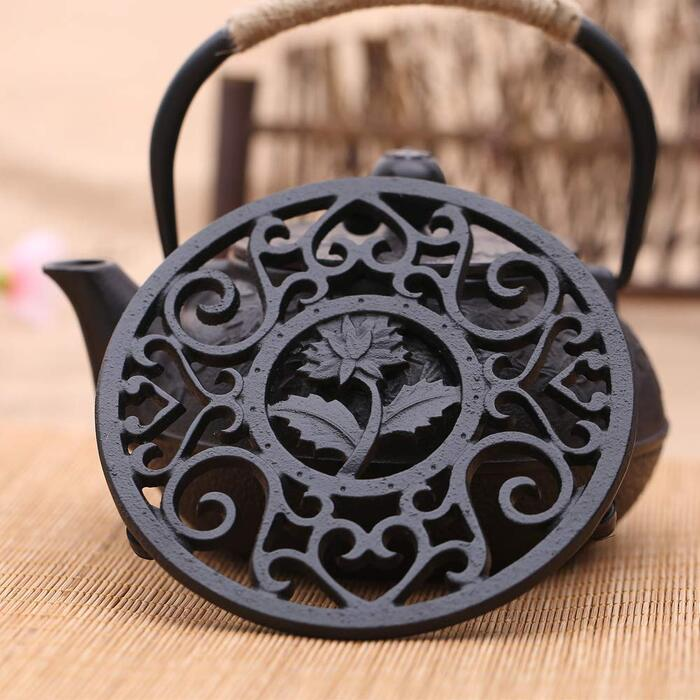 鋳鉄 釜敷 急須置き 瓶敷き 調理器具 鉄器 鍋敷 C型