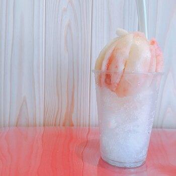 他にも桃のかき氷など、フルーツをたっぷり使ったスイーツメニューがあります。見栄えの良いスイーツや、果物をたっぷり楽しみたい方におすすめのお店です。