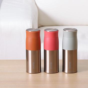 機能性とデザイン性を兼ね備えた「ルピナス」シリーズ。軽量で握りやすい形状に、高い保温・保冷機能が魅力的。