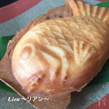 小麦粉の代わりに米粉を使う、ふんわりもっちりのたい焼き。こちらもグルテンフリーのおやつです。ふんわりの秘密は、豆乳ヨーグルトだとか。