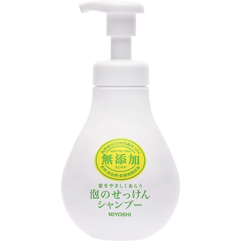 ミヨシ石鹸 無添加 泡のせっけんシャンプー シャンプー本体 500ml