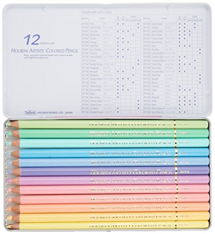 ホルベイン アーチスト色鉛筆 パステルトーンセット