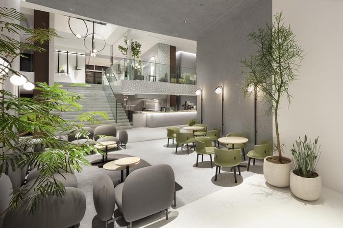 """まずは、代官山に4月にオープンした商業施設「KASHIYAMA DAIKANYAMA(カシヤマ ダイカンヤマ)」の地下一階にあるカフェをご紹介します。この商業施設は""""丘""""をコンセプトに建てられていて、建築やデザイン好きの方にもおすすめです。カフェは自然光が入る明るい空間になっていて、ゆったりとくつろげます。"""