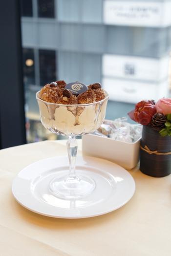 こちらは「コッパ ティラミス」。マスカルポーネクリームがふんだんに使われた一品です。イタリア伝統の味で、贅沢な時間を過ごしてみてはいかがでしょうか。