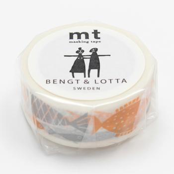 貼ってもすぐに剥がせて、気軽にさまざまな使い方ができるマステは、文房具の中でも人気者。こちらは「mt」とスウェーデンのデザイナー夫婦・BENGT&LOTTA(ベングト&ロッタ)による「フィッシュ」。キョロッとした目の魚たちがかわいい人気のデザインです。