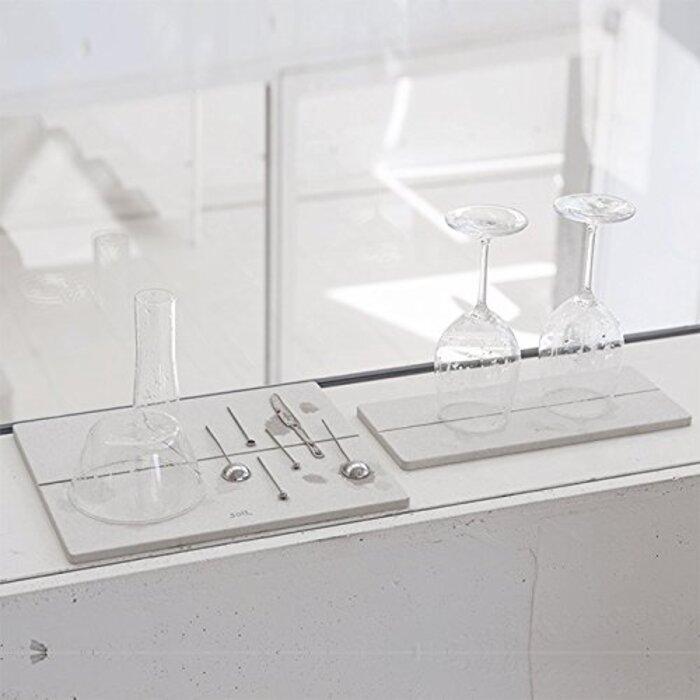 【新発売】soil GEM ソイル ジェムシリーズ 珪藻土 ドライングボード 水切り板 Mサイズ