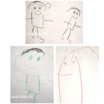らくがき帳に書いたちょっとしたお絵かきをママが色付けしてポストカードにしてみると、スペシャルなものが出来上がります。子どもとママの合作というのもいい思い出になりそうです。
