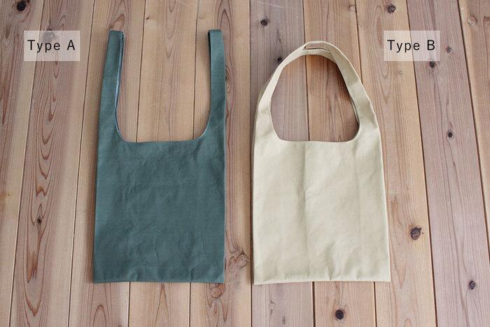 ノーマルなレジ袋型と、2種類の作り方が公開されています。
