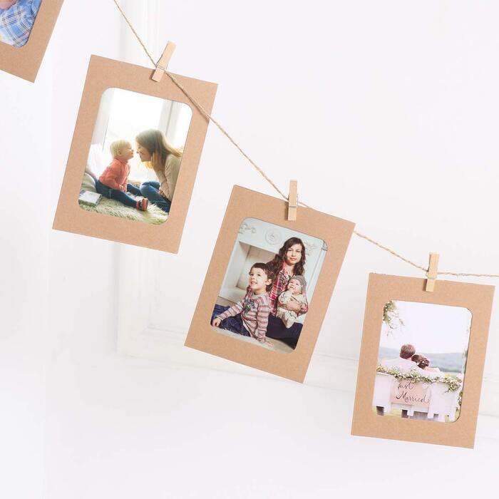 VORCOOL ピクチャーフレーム ペーパーフォトフレーム 写真飾り 壁掛け 写真ガーランド