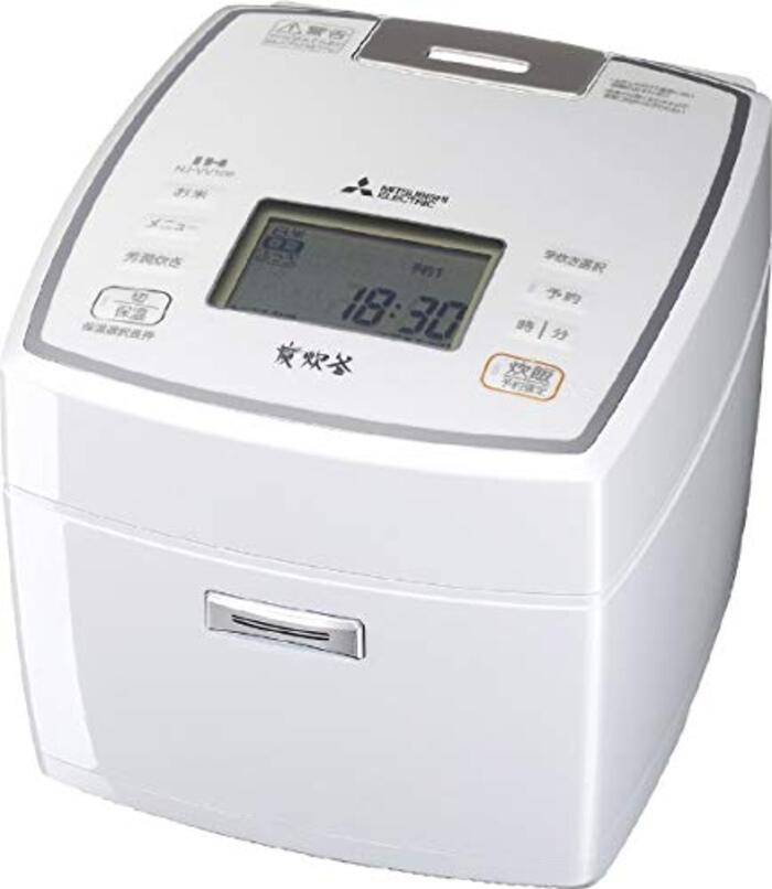 三菱電機 IHジャー炊飯器(5.5合炊き) ピュアホワイトMITSUBISHI 備長炭 炭炊釜 NJ-VV109-W