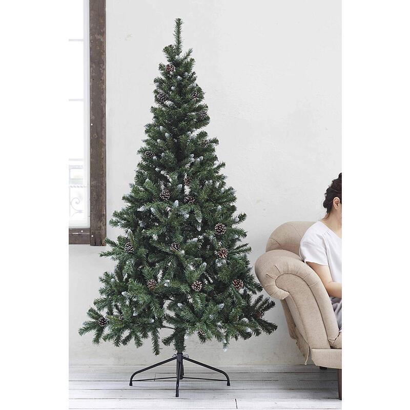 【Amazon.co.jp限定】 松かさ付きフロストヌードツリー180cm