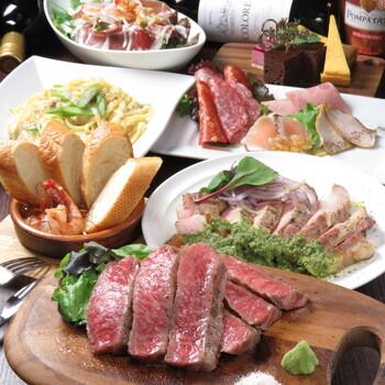 神戸牛のステーキやピラフ以外にも、神戸ポークや淡路どりなど地元のお肉が頂けます。イタリア産の生ハムやサラミなどもあり、お肉が大好きな人におすすめです。