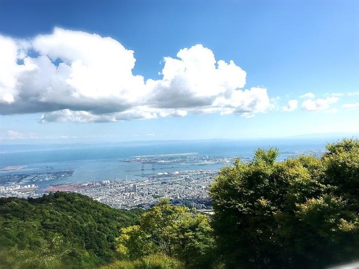 六甲ケーブルの六甲山上駅からすぐのところにある天覧台。その天覧台に併設されたカフェがTENRAN CAFEです。 晴れた日には神戸の街や神戸港はもちろん、大阪や和歌山まで見渡すことができます。