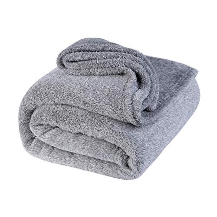 lattefine 毛布 シングル ブランケット柔軟軽量発熱 吸湿/静電気防止/洗える (グレー)