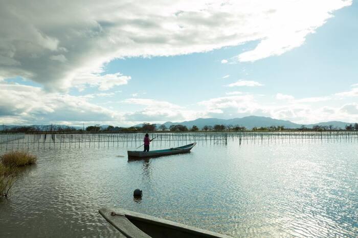 朝・夕どの景色を切り取っても美しい琵琶湖の風景(写真:神保真珠商店)