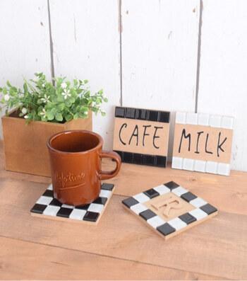 ハンドドリップ生活を始めるなら、熱々のコーヒーカップをのせるコースターも新調してみてはいかがでしょうか?しかも自分好みに作れる自作コースターは特におすすめ。