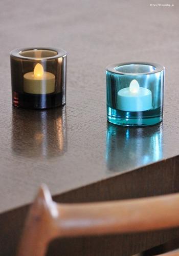 電池式で火を使わないから、小さいお子さんがいるご家庭でも安心。常夜灯としてテーブルに置いておけば、突然停電になっても目印になってくれます。