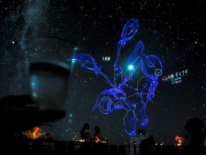夜21:30まで営業しており、早めのお食事後でもご利用できます。プラネタリウムの星空をイメージしたスイーツやカクテルも多いことからSNS映えすることも間違いなしです♪
