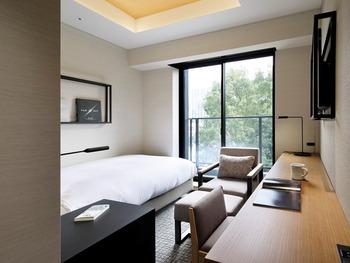 完全個室の客室ですので、周りの人の音を気にすることなく、存分に本の世界に没頭することができます。  調光できる間接照明とリーディングランプ、そして、オットマンを備えた優雅なひじ掛け付きソファ。本を読むために必要な設備が整えられているのですね。