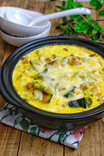 濃厚なクリーム系のスープに、かぼちゃの甘みが溶け込んで、なんともいえないおいしさ。冷えた体をほかほかに温めてくれます。〆はパスタがおすすめだそうです。