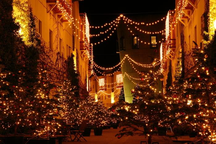 リゾナーレ八ヶ岳では、12月1日(日)~12月25日(水)に「八ヶ岳クリスマスタウン2019」を開催。今年は1万2千本のワインボトルで作る、クリスマスツリーが登場予定とのこと。ワインボトルの色や形で変わる光が、通りを彩ります。