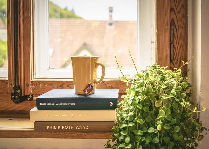 窓からたっぷりと日の光が入る日中は、わざわざ照明を付ける必要ありません。自然の光で、ゆるやかに過ごしてみましょう。