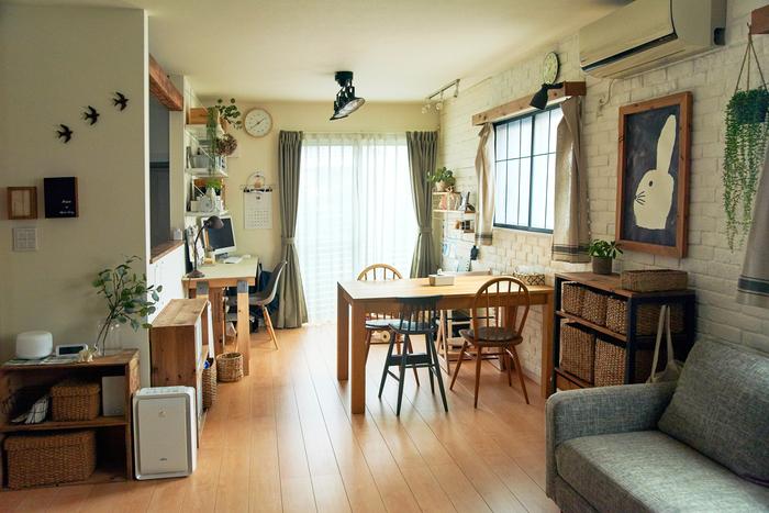 ナチュラルな雰囲気がかわいい。DIYが人気の「ミキさん」が暮らす、理想の部屋