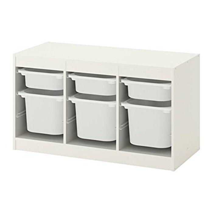 IKEA/イケア TROFAST:収納コンビネーション ボックス付き99x56 cm