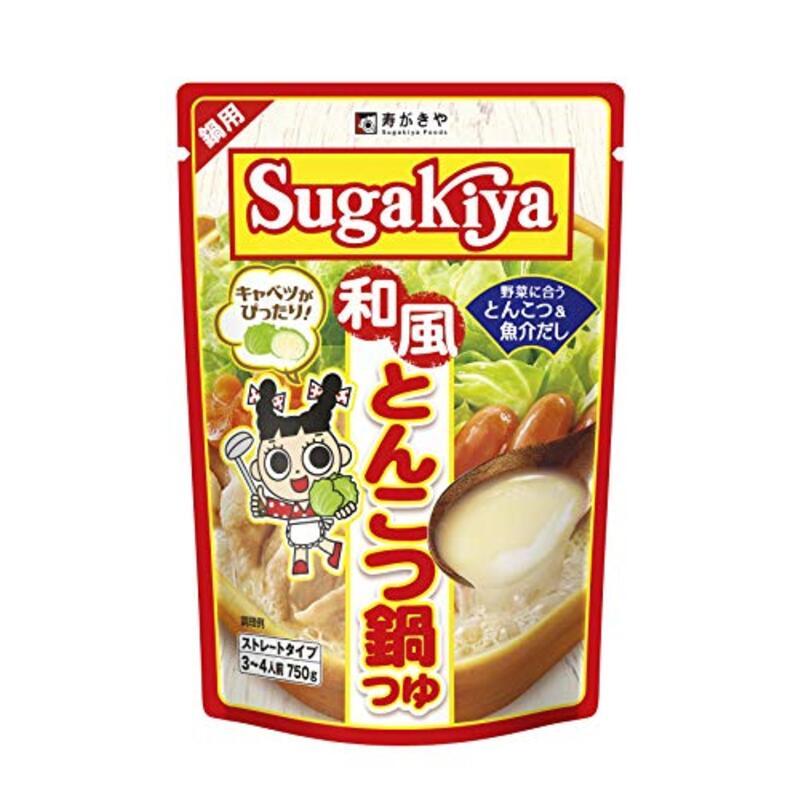 寿がきや SUGAKIYA 和風とんこつ鍋つゆ 750g ×12箱