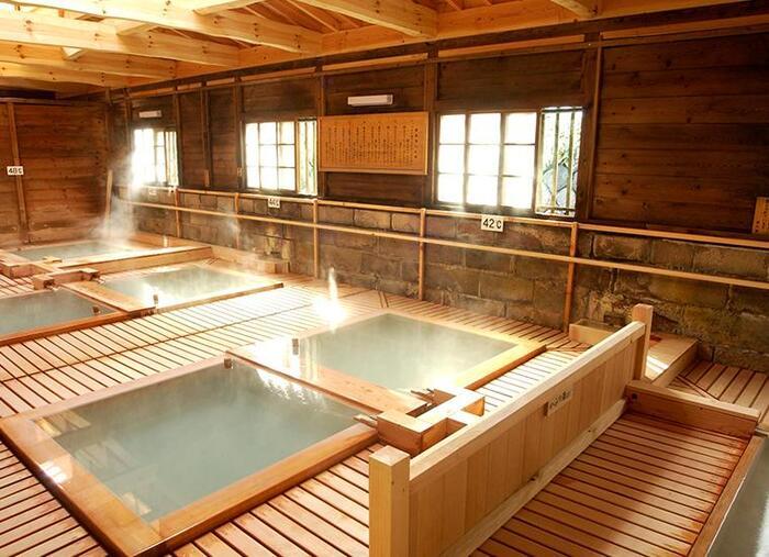 この鹿の湯は、あの俳諧師で有名な松尾芭蕉も立ち寄った名湯といわれており、白く濁った湯が特徴です。駅から遠いこの鹿の湯は、建物の中も歴史のある古き良き空間が広がっていて、歴史好きの方にもおすすめな温泉となっています♪