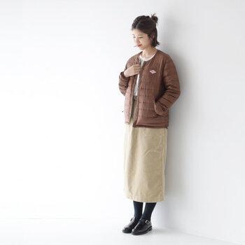 カジュアルで秋冬らしい素材感。コーデュロイはどこか素朴さもあり、気取りのないスタイルを作るのが上手。今季の注目はロング丈のタイトスカート。膝丈より大人っぽく、フレアーよりスポーティ&ハンサムな表情に。カラーやデザイン、シルエット...妥協せず今の気分や自分のスタイルに合わせやすいものを選びましょう。