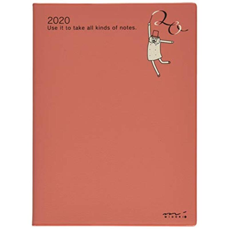 デザインフィル ミドリ ポケットダイアリー 手帳 2020年 A6 ウィークリー オジサン柄 27796006 (2019年 10月始まり)