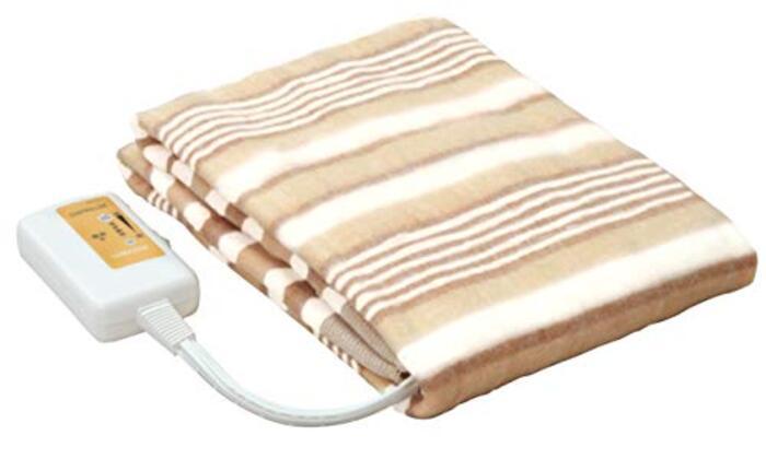 [山善] 電気敷毛布 (丸洗い可能) 140×80cm ブラウン YMS-13(T)