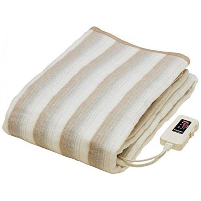 掛け敷き 兼用 電気毛布 188×130cm 室温センサー ダニ退治 機能付き