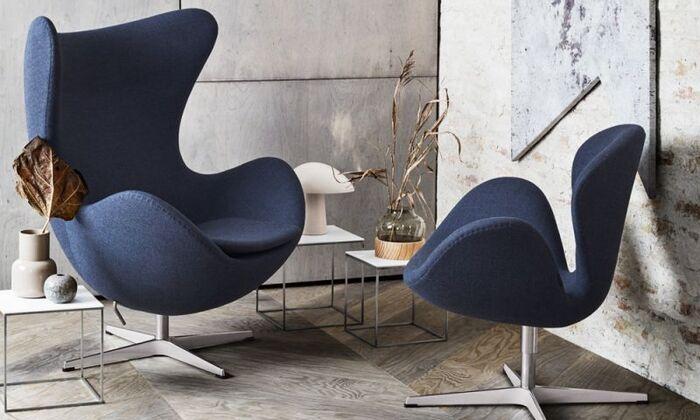 「アントチェア」「セブンスチェア」「スワンチェア」など、20世紀デザインの数々の名作を生み出したアルネ・ヤコブセンは、建築家としても活躍し、デンマーク銀行やロイヤルホテルなども手掛けました。現在のモダンデザインの基本ともなっている家具たちは、独創的な見た目に反して非常に機能性を重視した作品となっています。