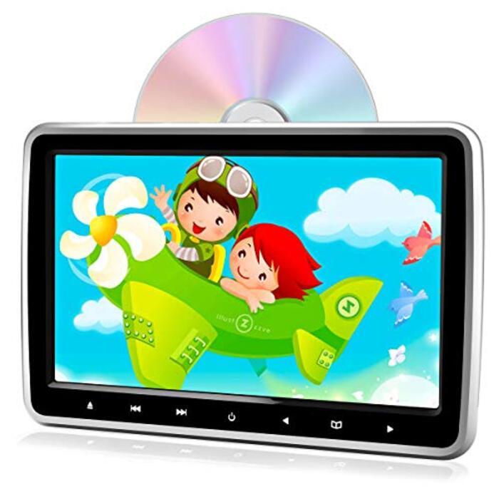 PORMIDO ヘッドレストモニター dvd スロットイン式 10.1インチ dvdプレーヤー