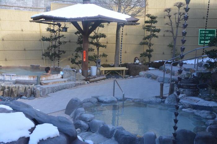 「ゆーとろん水神の湯」さんは、100%源泉かけ流しの日帰り温泉。富士見パノラマリゾートから車で約1分のところにあります。趣向を凝らした8種類の露天風呂がおもしろい♪釜風呂や洞窟風呂なども人気です。道の駅にある温泉「つたの湯」さんは、源泉風呂付の温泉施設。ジャグジーやサウナなどもあり、スキーで疲れた体を癒すのに最適です。
