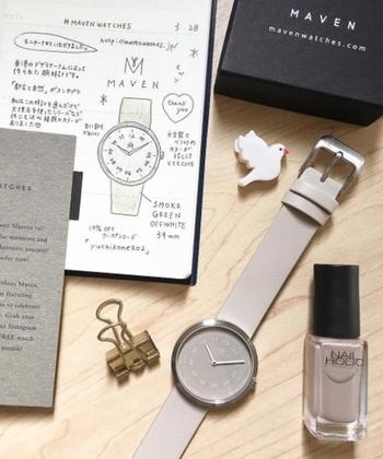 """デザイナーのNathan Loによる香港発祥のブランドが、MAVEN WATCHES(マベンウォッチズ)。2017年に誕生した比較的新しいブランドですが、既に国内でも注目されています。  """"都会と自然""""をコンセプトに、モダンとナチュラルが融合したナチュラルさんにぴったりの腕時計が揃います。"""