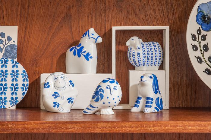 一つ一つ飾っても、集めて飾ってもかわいらしい。家族の干支を揃えていったり、毎年一つづつ増やしていくのもいいですね。磁器製だから、他の食器と一緒にキッチンに飾っても◎。