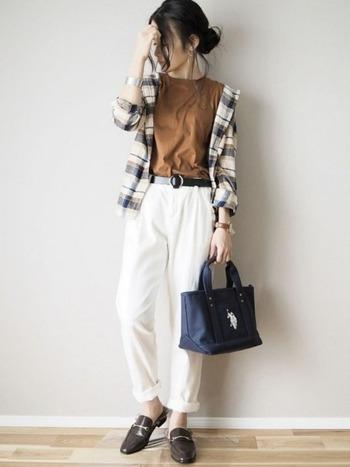 UNIQLOの定番ともいえる「フランネルチェックシャツ」。色柄が豊富で、自分の好みに合ったデザインを選ぶことができますよ。